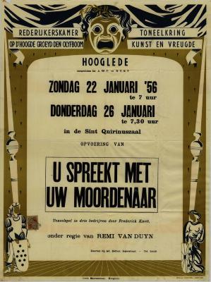 Toneelaffiche 1956