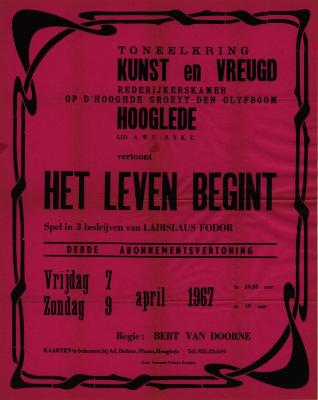 Toneelaffiches 1967
