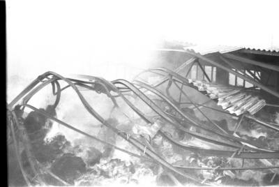 Brand in fabriek, Izegem 1957