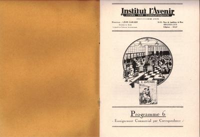 Informatiebrochure Instituut l'avenir, 1924 (deel 1)