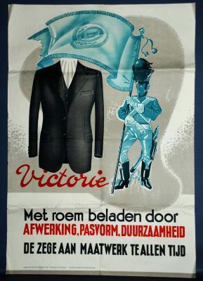 Poster als promotiemiddel voor maatwerk, 1937