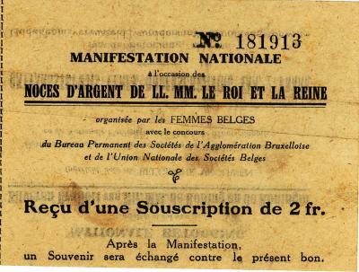 Ontvangsbewijs nationale betoging