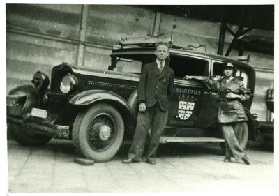 Brandweerauto Izegem, rond 1944