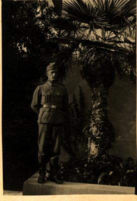 Foto van soldaat genomen in Saloniki, Griekenland