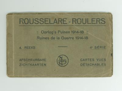Set Postkaartjes Oorlogspuinen 14-18, Roeselare