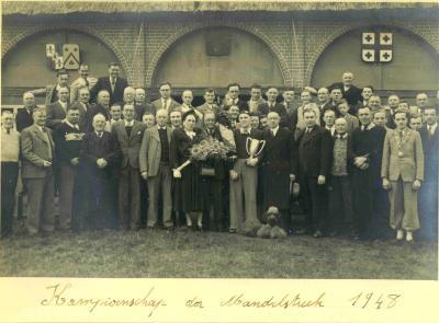 Kampioenviering schuttersgilde Sint-Sebastiaan, Ingelmunster, 1948