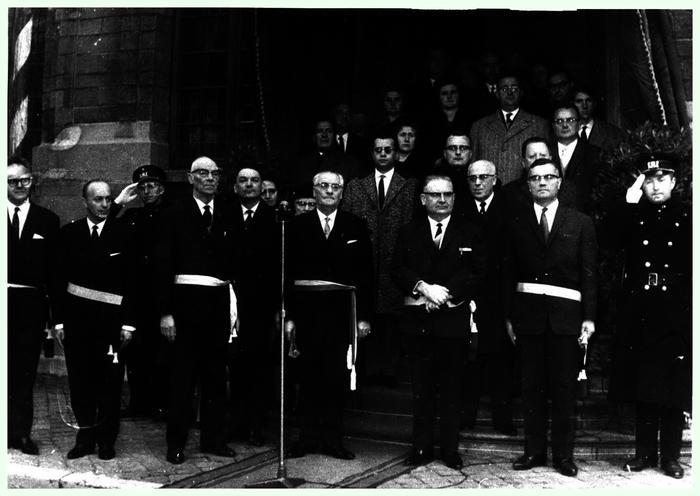 Aanstelling burgemeester Deman, 1965
