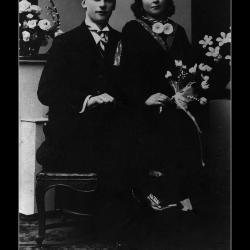 Huwelijke Victor Camille Hugelier - Gabriella Maria Uyttenhove, Ingelmunster, 1937