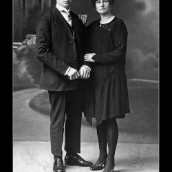 Huwelijk Victor Achille Lecluyse - Maria Emelia Braeckeveld, Hulste, 1929