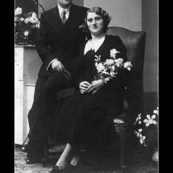 Huwelijk Michiel Creton - Maria Magdalena Vantieghem, Ingelmunster, 1937