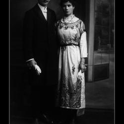 Huwelijk Omer Carron - Emilie Craeymeersch, Ingelmunster, 1920
