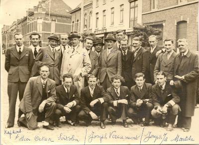 Vooraanstaande figuren bij de bevrijding,  Izegem, 1944 of 1945