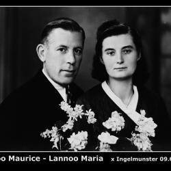 Huwelijk Mauritius Germaan Lannoo - Maria Martha Lannoo, Ingelmunster, 1945