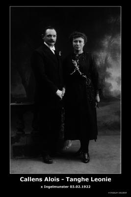 Callens Aloïs en Tanghe Leonie,  Ingelmunster, 1922