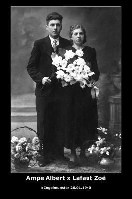 Huwelijk Albert Ampe - Zoë Lafaut, Ingelmunster, 1940