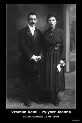Vroman Remi en Pylyser Joanna, Oostrozebeke, 1920