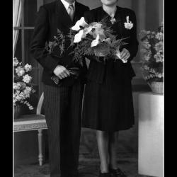Huwelijk Gerard D'Haese - Elisabeth Van Haverbeke, Ingelmunster, 1943