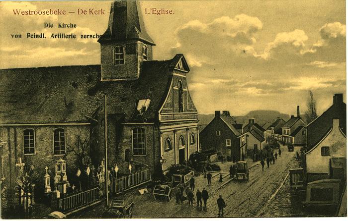 Pentekening Kerk Westrozebeke