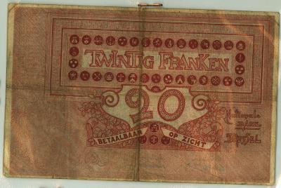Oud geld type 1894, 20 BFR
