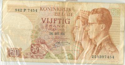 Oud geld type 1966, 50 BFR