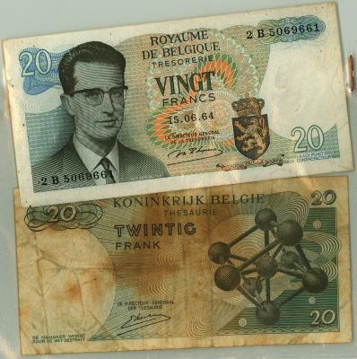 Oud geld type 1964, 20 BFR