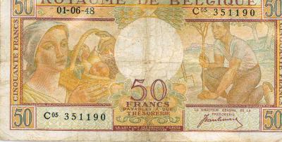 Oud geld type 1948, 50BFR