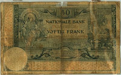 Oud geld type 1909, 50BFR
