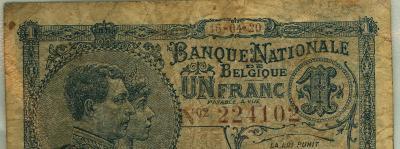 Oud geld type 1919 nationale reeks 1 BFR