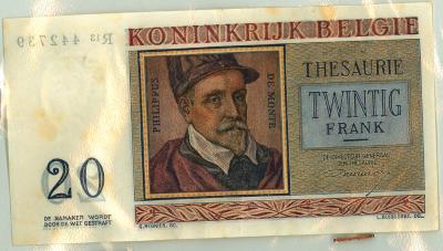 Oud geld type 1950, 20 BFR