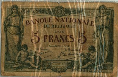 Oud geld type 1912 5 BFR