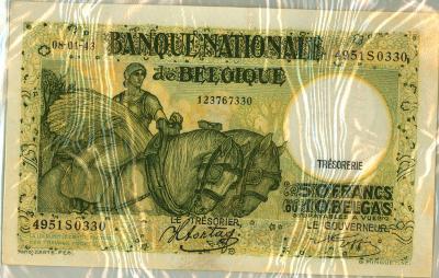 Oud geld type 1927 (groen), 50BFR