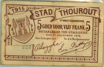 Noodgeld WO I, Torhout