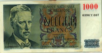 Oud geld Eeuwfeesttype 1000 BFR