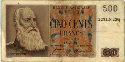 Oud geld Eeuwfeesttype 500BFR