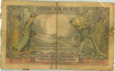 Oud geld type 1929, 10000 BFR