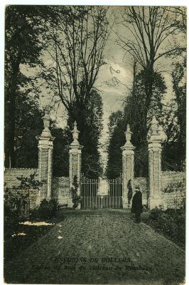 Prentkaart ingang Sterrebos, Roeselare-Rumbeke