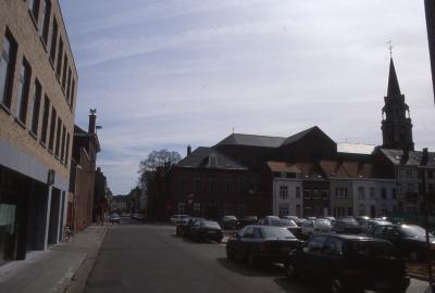 Straatzicht Klein-Bassinstraat en Sint-Amandsstraat, 1997