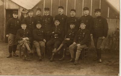 Groep ambulanciers, 1914