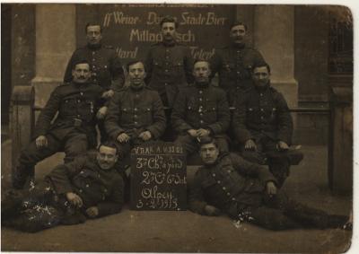 Groepsfoto in Duitsland, 1919