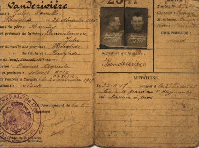 Paspoort Jules Vanderiviere