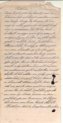 Correspondentie Albert Herman - Madeleine Vandermeersch