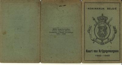 Kaart van Krijgsgevangene, WO II