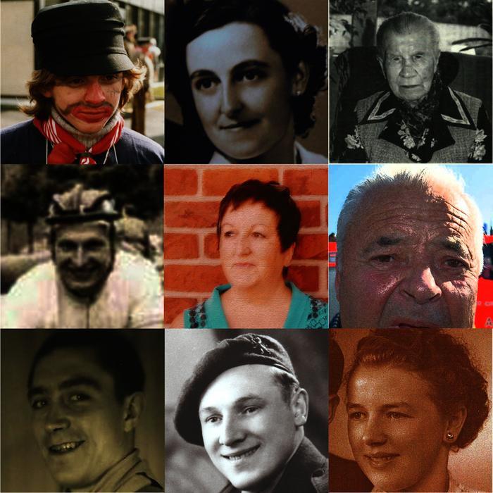 Collage met portretfoto's, Gits