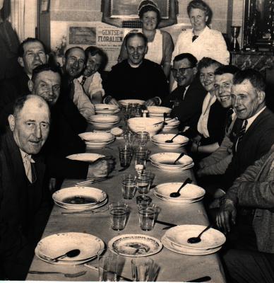 Souper kaartersclub, Gits, 1950