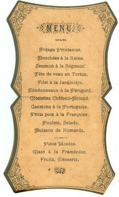 Franstalige menukaart (2)