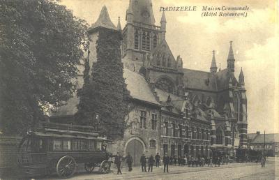 Gemeentehuis, hotel, restaurant, Dadizele