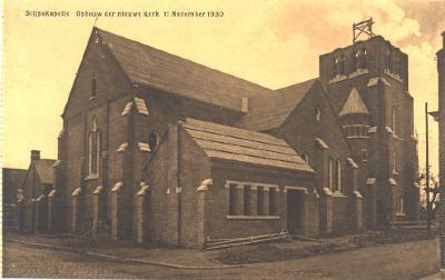 Opbouw nieuwe kerk, Slypskapelle, 11 november 1930