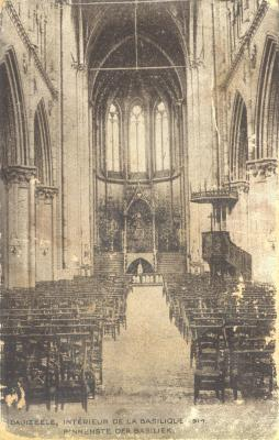 Interieur van basiliek, Dadizele, 1917