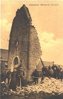 Afbraak van oude kerk, Slypskapelle