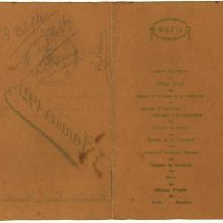 Franstalige menukaart 1921 (2)